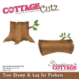 CottageCutz Die Tree Stump and Log for Peekers 2in To 3.1in