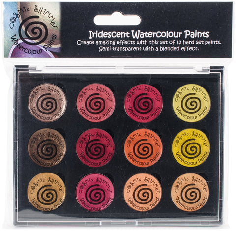 Cosmic Shimmer Iridescent Watercolor Palette Set 3 Autumn Sunrise