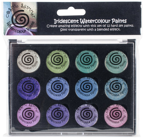 Cosmic Shimmer Iridescent Watercolor Palette Set 4 Summer Garden