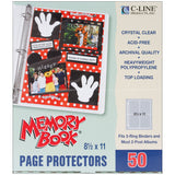Top Loading Clear Page Protectors 8.5inx11in 50pk