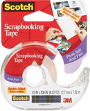 Scotch Scrapbooking Tape Double Sided Removable .5inX300in