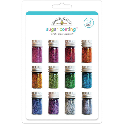 Sugar Coating Glitter Assortment Metallic 5g 12pk