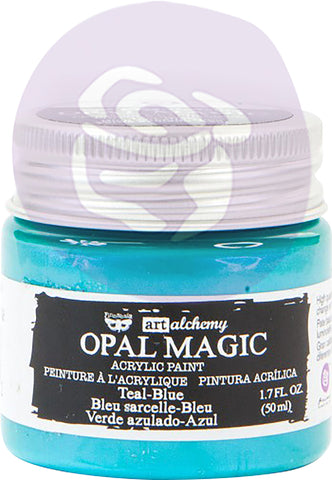 Finnabair Art Alchemy Opal Magic Acrylic Paint Teal Blue 1.7 fl oz