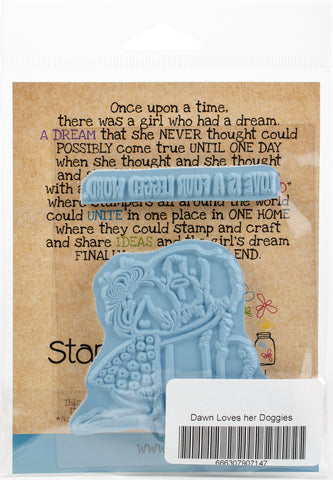 Stamping Bella Cling Stamps Tiny Townie Dawn Loves Her Doggie