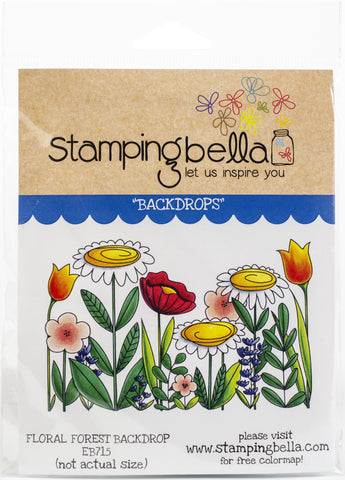 Stamping Bella Cling Stamps Floral Forest Backdrop