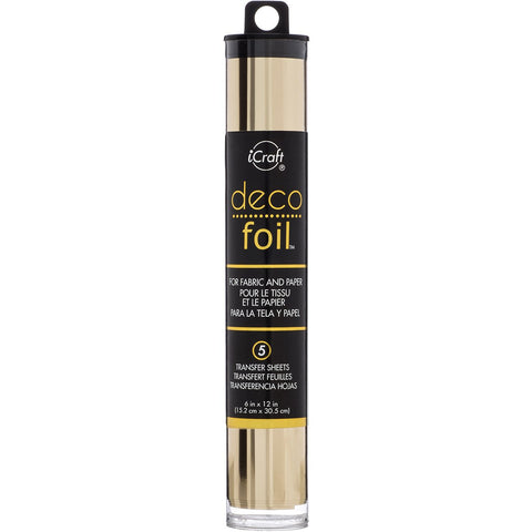 Deco Foil Transfer Sheets Champagne 6inX12in 5pk