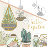 KaiserColour Perfect Bound Coloring Book Hello Hipster 9.75inX9.75in