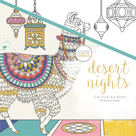 KaiserColour Perfect Bound Coloring Book Desert Nights 9.75inX9.75in