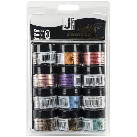 Pearl Ex Powdered Pigments Set Series 3 12 Colors