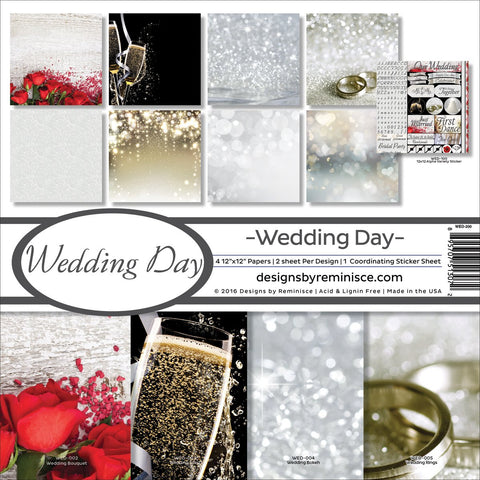 Reminisce Collection Kit Wedding Day 12inX12in