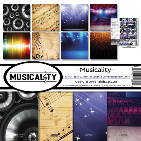 Reminisce Collection Kit Musicality 12inX12in