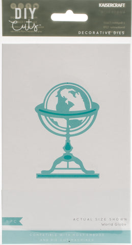 Kaisercraft Decorative Die World Globe 3inX2in