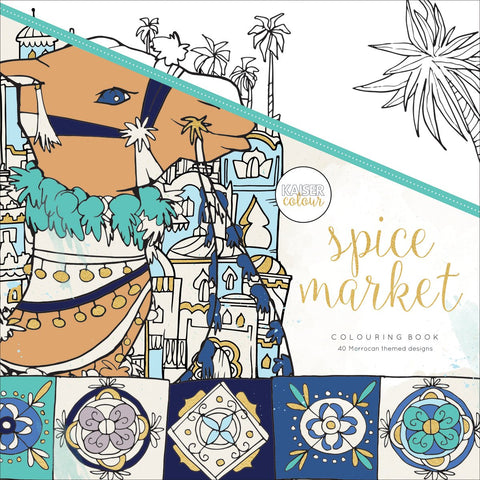 KaiserColour Perfect Bound Coloring Book Spice Market 9.75inX9.75in