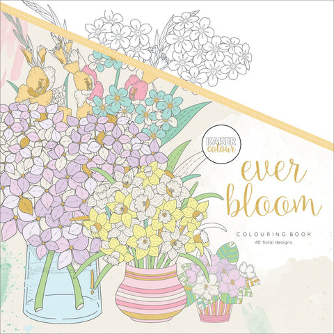 KaiserColour Perfect Bound Coloring Book Ever Bloom 9.75inX9.75in