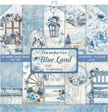 Stamperia Double-Sided Paper Pad Blue Land 12inX12in 10pk