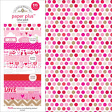 Doodlebug Paper Plus Value Pack Love 12inX12in 8pk