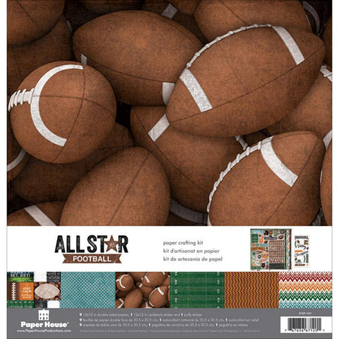 Paper House Paper Crafting Kit Football 12inX12in