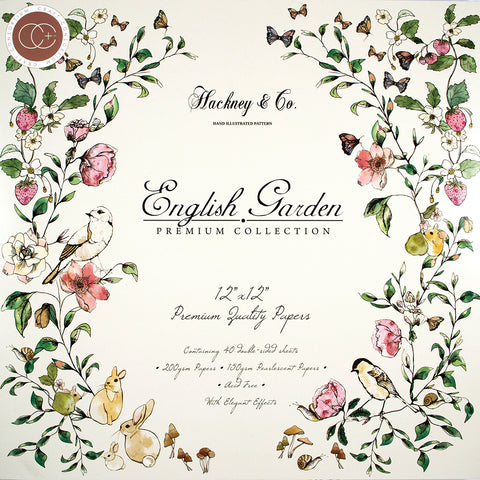 Craft Consortium Double Sided Paper Pad English Garden 12inX12in 40pk