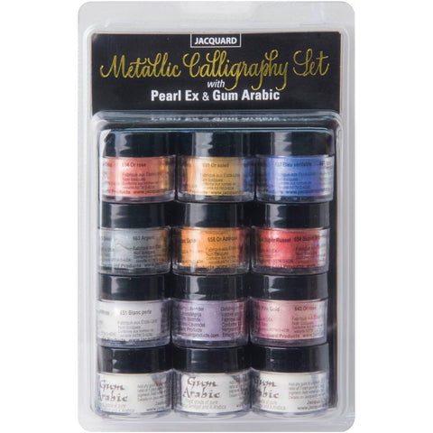 Jacquard PearlEx Metallic Calligraphy Set Assorted Colors