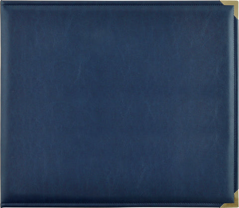 Kaisercraft Leather D-Ring Album Navy 12inX12in