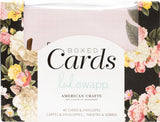 Heidi Swapp A2 Cards with Envelopes Floral 4.375inX5.75in 40Box