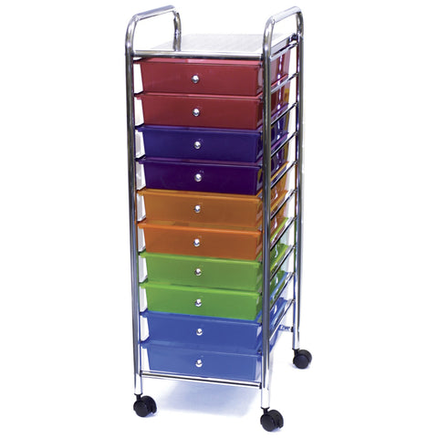 Storage Studios Home Storage Rolling Organizer Multi 10 Drawer