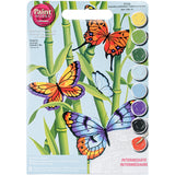 Paint Works Paint By Number Kit Butterflies & Bamboo 9inX12in