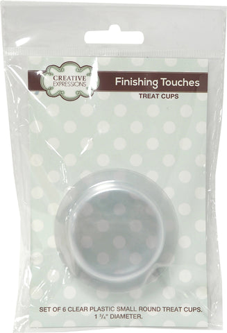 Creative Expressions Circle Treat Cups Clear 1.75in Diameter 6pk