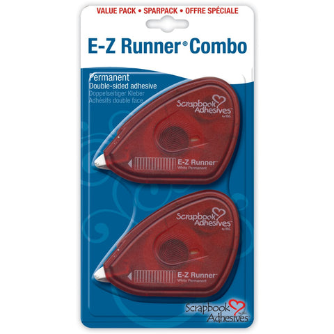 E-Z Runner Adhesive Permanent .375inX56ft 2pk
