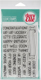 Avery Elle Clear Stamp Set Banner Bits 4inX6in