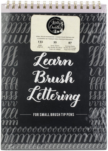 Kelly Creates Small Brush Lettering Workbook 8.5inX12.3in 122pk