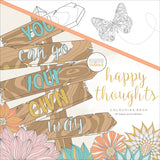 KaiserColour Perfect Bound Coloring Book Happy Thoughts 9.75inX9.75in