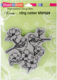 Stampendous Cling Stamp Dogwood Birds