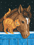 Paint Works Paint By Number Kit Pony & Kitten 9inX12in