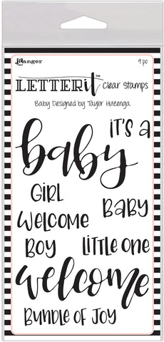 Ranger Letter It Clear Stamp Set Baby 4inX6in