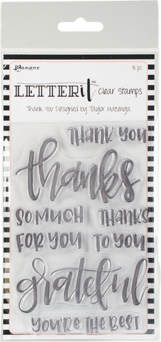 Ranger Letter It Clear Stamp Set Thank You 4inX6in