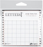 Ranger Letter It Acrylic Stamping Block 4inX3in