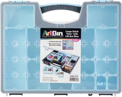 Artbin Large Quick View with Removable Bins 13 Bins