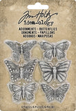 Idea-Ology Metal Adornments 1in Butterflies 6pk