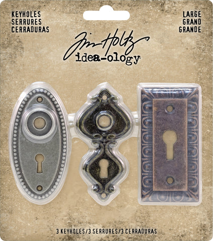 Idea-Ology Large Metal Keyholes 1.25inX2.5in 3pk