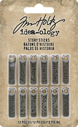 Idea-Ology Metal Story Sticks .25inX1in 12pk