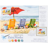 Paint Works Paint By Number Kit Beach Chair Trio 14inX11in