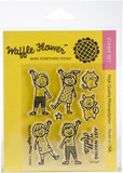 Waffle Flower Crafts Clear Stamps Hello 3inX4in