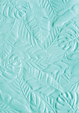 Sizzix 3D Textured Impressions Embossing Folder By Courtney Tropical Leaves