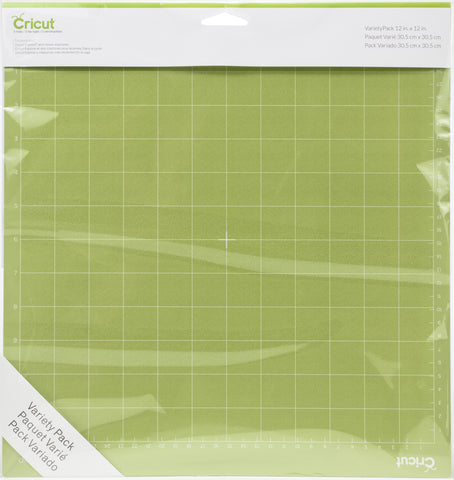 Cricut Adhesive Back Cutting Mats Green, Blue & Purple 12inX12in 3pk