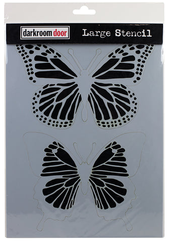 Darkroom Door Stencil Butterflies 9inX12in