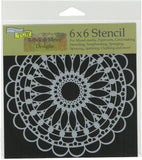 Crafter's Workshop Template Scalloped Mandala 6inX6in