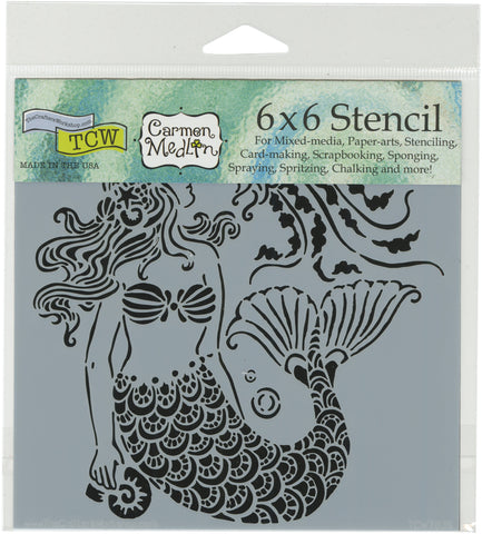 Crafter's Workshop Template Mermaid Dreams 6inX6in