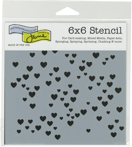 Crafter's Workshop Template Micro Heart 6inX6in
