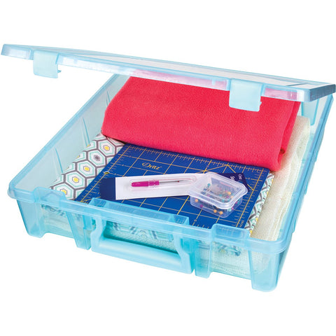 Artbin Super Satchel Single Compartment Aqua Mist 15.25inX14inX3.5in